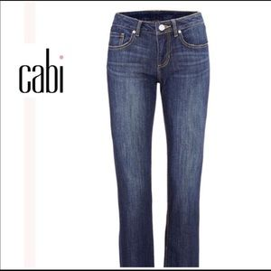 CAbi Bootcut Dark Wash Mid Rise Jeans Casual